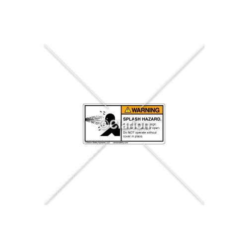 Warning/Splash Hazard Label (532-2013)