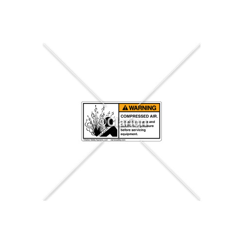 Warning/Compressed Air Label (532-3001)