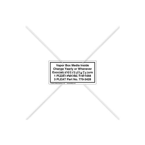 Vapor Box Media Label (532-6023)