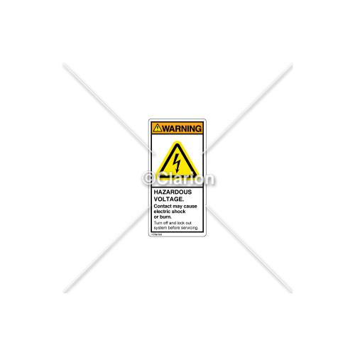 Warning/Hazardous Voltage Label (C7601-01)
