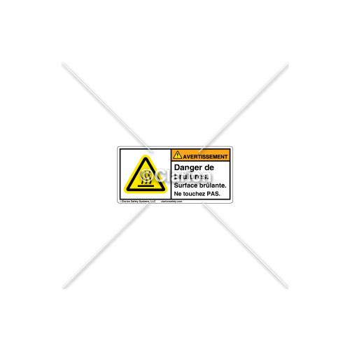 Warning/Burn Hazard Label (C6847-02)