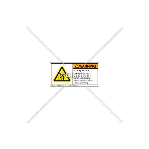 Warning/Lifting Hazard Label (C6401-13)