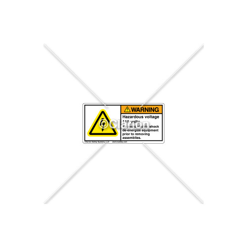 Warning/Hazardous Voltage 115 Label (C11305-05)