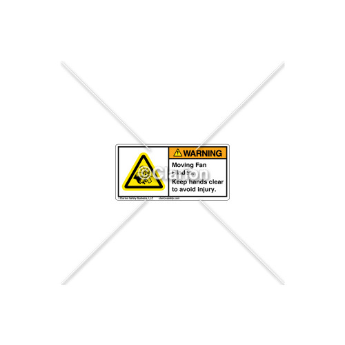 Warning/Moving Fan Blades Label (C16327-04)