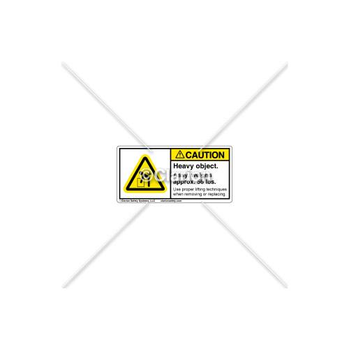 Caution/Heavy Object Label (C18185-02)