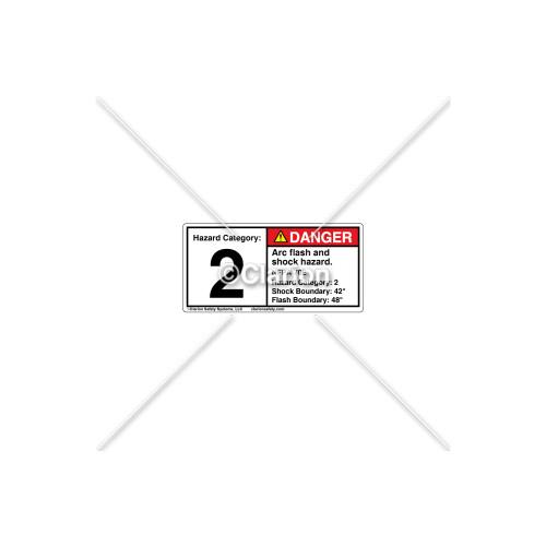 Danger/Arc Flash Label (C21472-03)