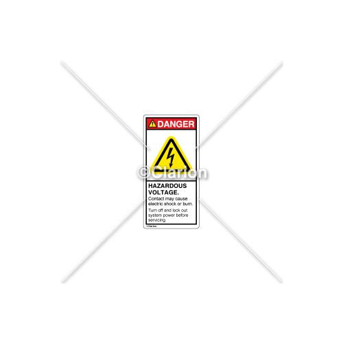 Danger/Hazardous Voltage Label (C22970-01)