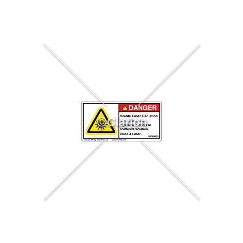 Danger/Visible Laser Label (8446-02DHPL)