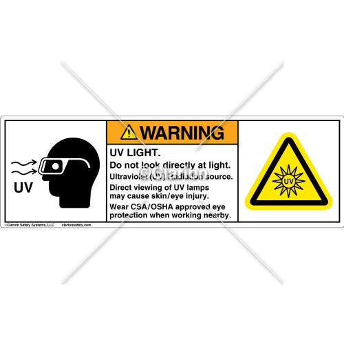 Warning/UV Light Label (C25333-01)