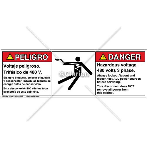 Danger/Hazardous Voltage Label (C15397-23)