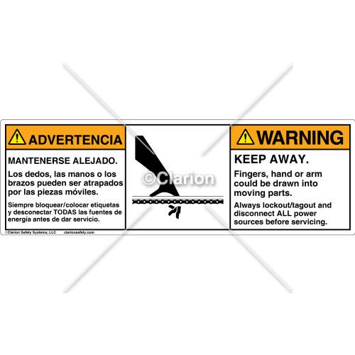 Warning/Keep Away Label (C15397-41)