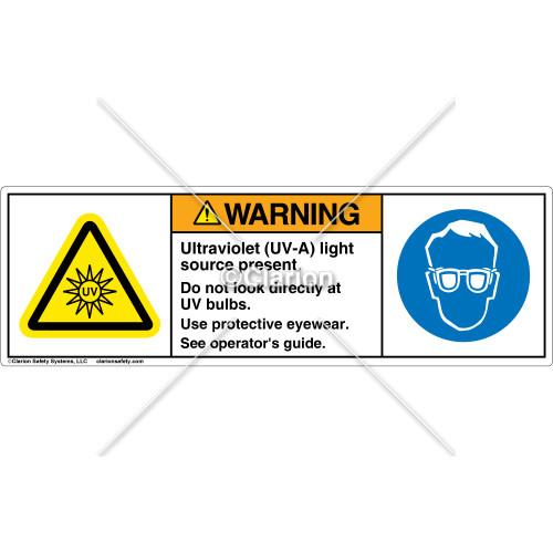 Warning/Ultraviolet Label (H6123/6040-1CWHPS)