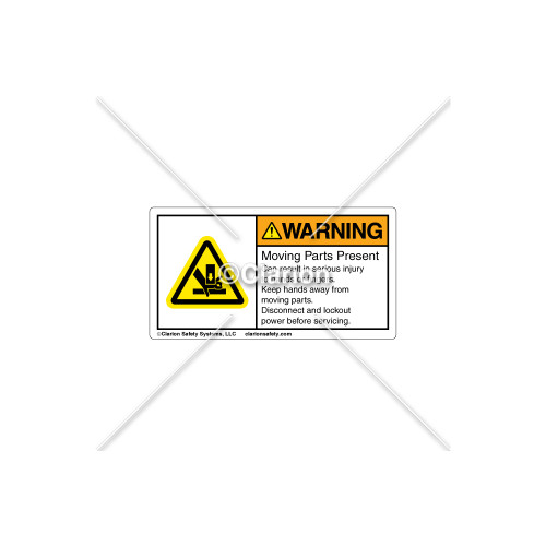 Warning/Moving Parts Present Label (MH01S298)