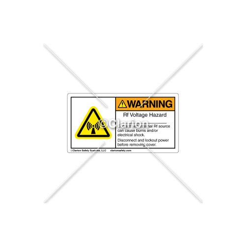 Warning/Rf Voltage Hazard Label (RH03S298)