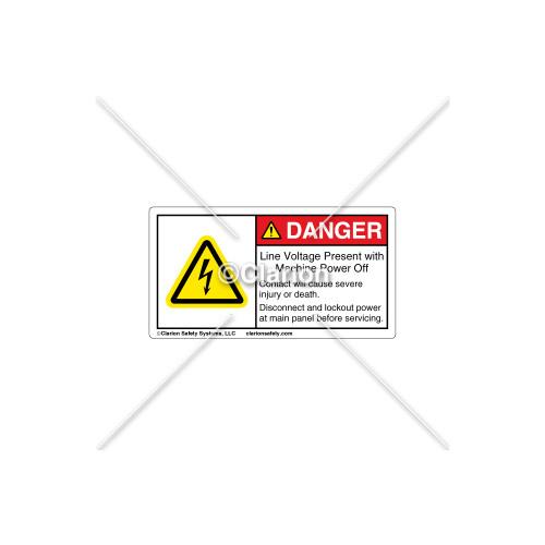 Danger/Line Voltage Present Label (EH03S299)