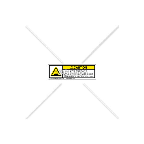 Caution/Hot Surface Label (H6043-H13CHP-S5)