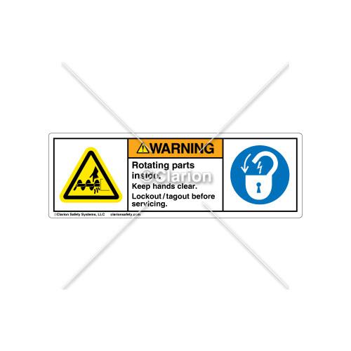 Warning/Rotating Parts Label (H1050/6011-4GWHPT)