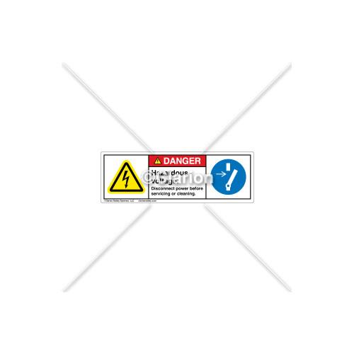 Danger/Hazardous Voltage Label (H6010/6058-CJDHPT)