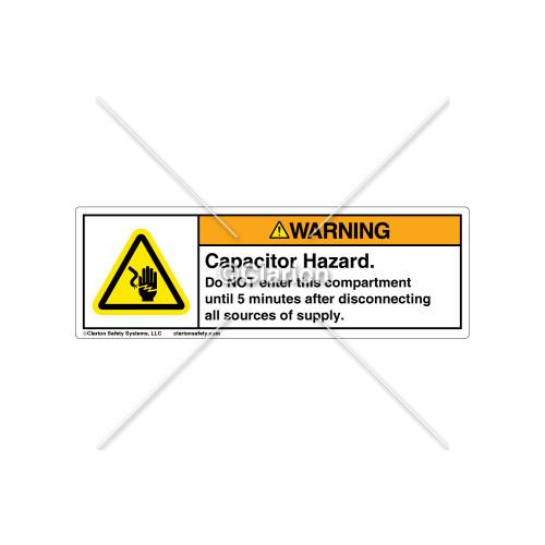 Warning/Capacitor Hazard Label (C23459-01)