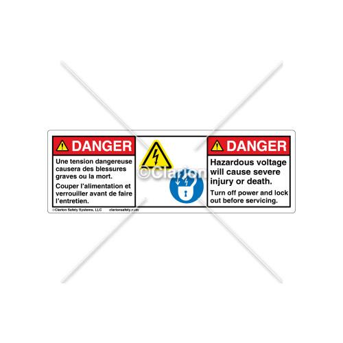 Danger/Hazardous Voltage Label (C18609-08)
