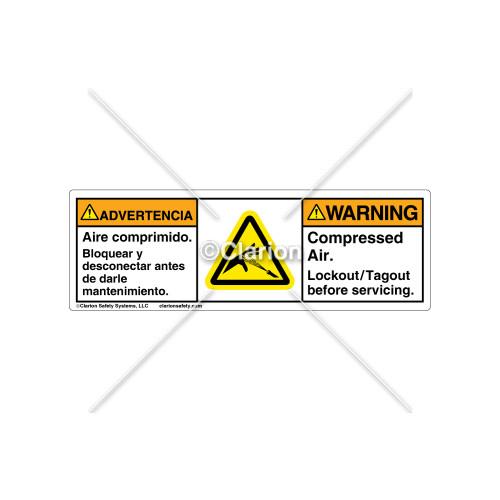 Warning/Compressed Air Label (C17168-08)