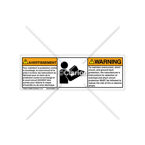 Warning/To Maintain Overcurrent Label (C7930-03)