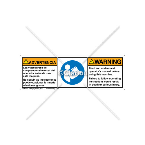 Warning/Read and Understand Label (C4371-21)