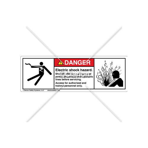 Danger/Electric Shock Hazard Label (5025/4005-F61DHPT)