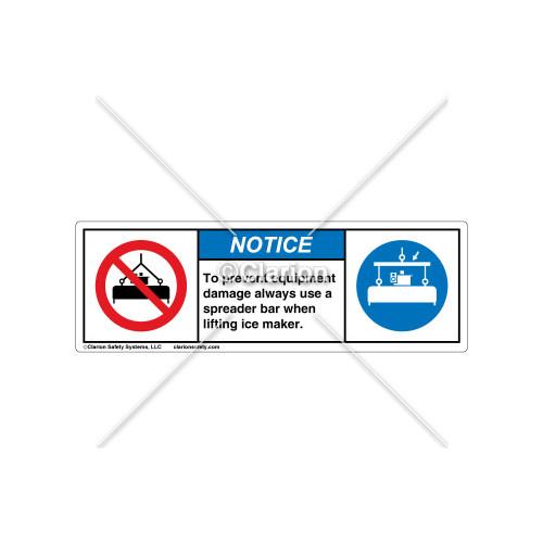 Notice/To Prevent Equipment Damage Label (106302)