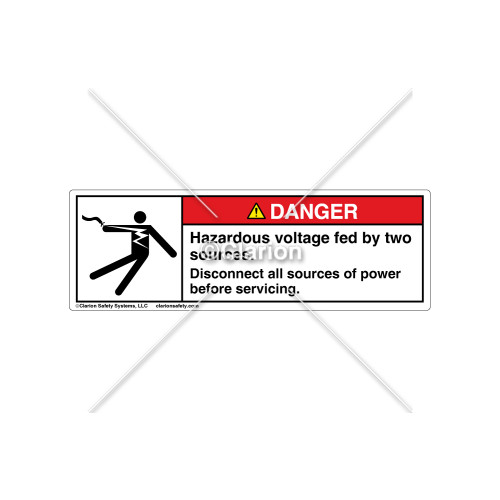 Danger/Hazardous Voltage Label (5025-L0DHPT)
