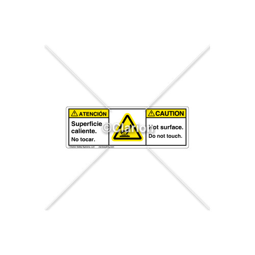 Caution/Hot Surface Label (BSH1024-22CHPU)
