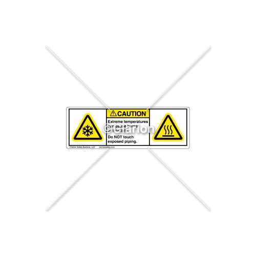 Caution/Extreme Temperatures Label (C17260-01)