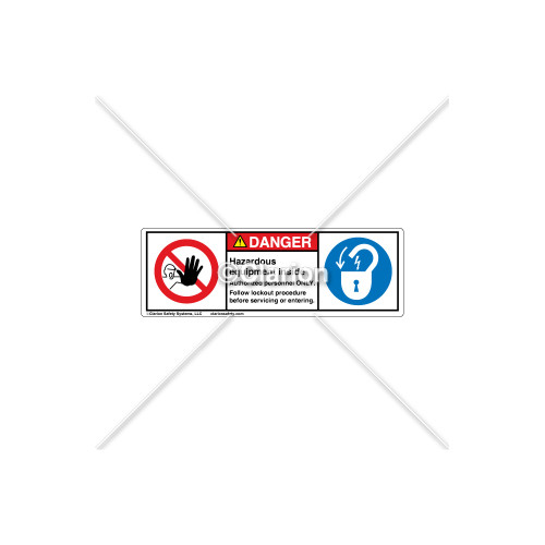 Danger/Hazardous Equipment Label (H6062/6011-H02DHPU)