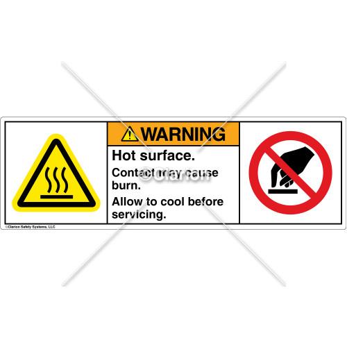 Warning/Hot Surface Label (H6043/6053-U62WHPU)