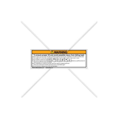 Warning/To Ensure Proper Label (PSL-2C)