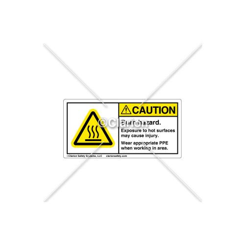 Caution/Burn Hazard Label (314601)