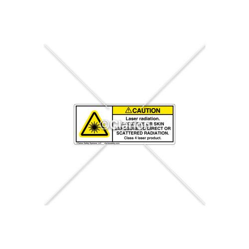 Caution/Laser Radiation Label (H6003-110CHPI)