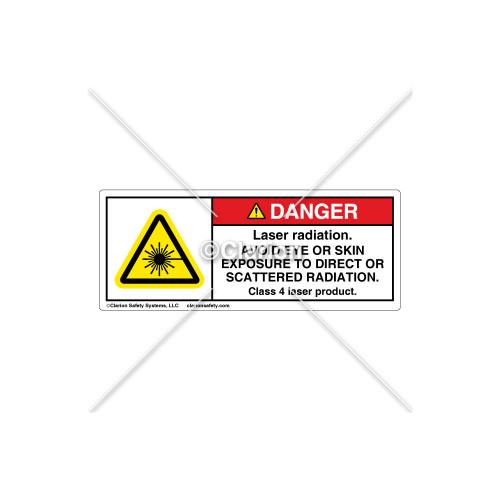 Danger/Laser Radiation Label (H6003-110DHPI)
