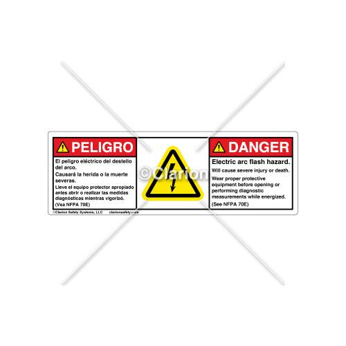 Danger/Electric Arc Flash Label (BSM-H6010-FA7DHPT)