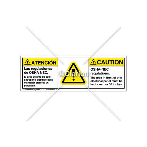 Caution/Osha-Nec Regulations Label (BSM-H6014-FA9CHPT)