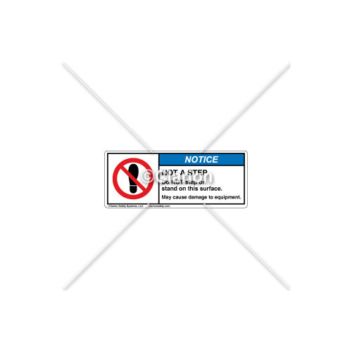 Notice/Not a Step Label (C208-19)