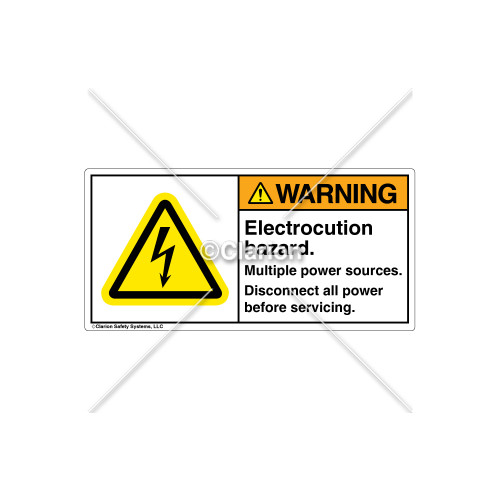Warning/Electrocution Hazard Label (H6010-201WHRJ)