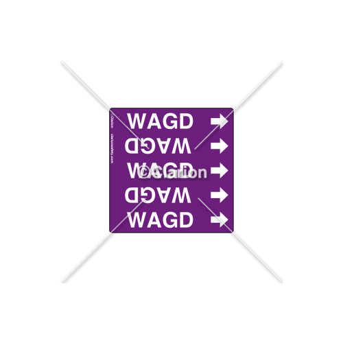 WAGD - Pipe OD  3/8 in. to 3/4 in. Label (PSMG-PR9PP1A)