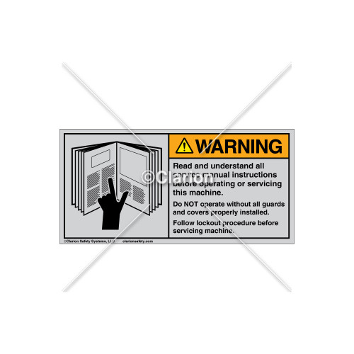 Warning/Read and Understand Label (6001-GPWHTJ Wht)