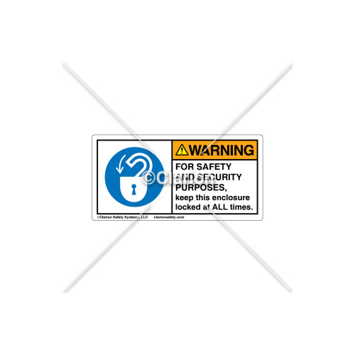Warning/For Safety And Security Label (H6013-385WHPK)
