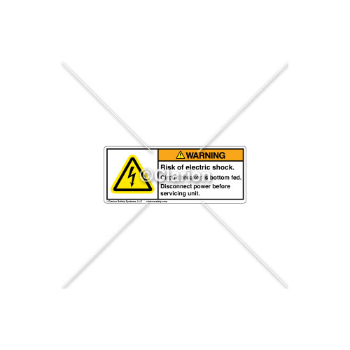 Warning/Risk Of Electric Shock Label (H6010-W52WHPI)