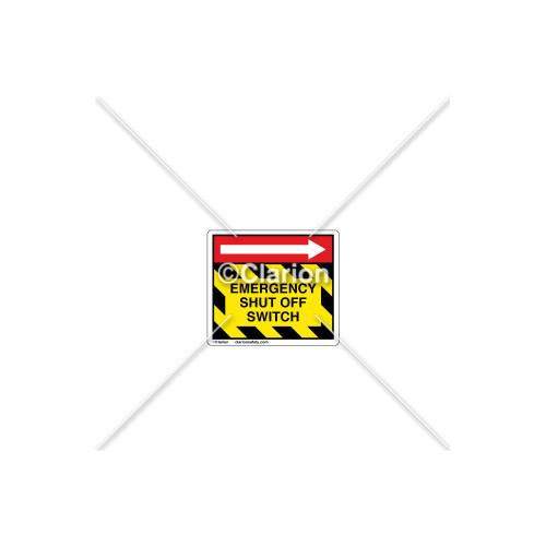 Emergency Shut Off Label (C1096-01)