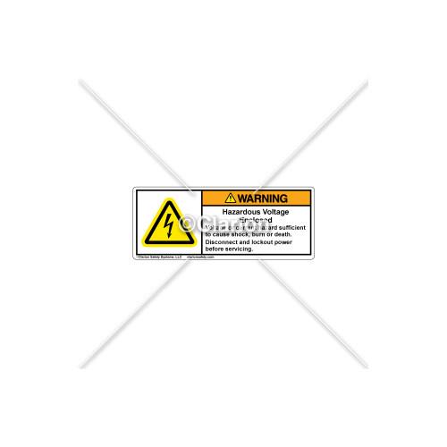 Warning/Hazardous Voltage Label (H6010-EBWHPI)