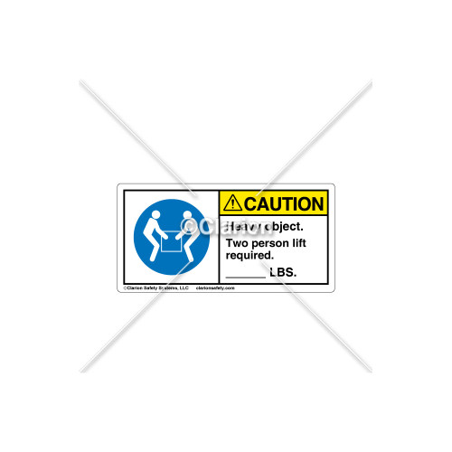 Caution/Heavy Object Label (C18016-01)