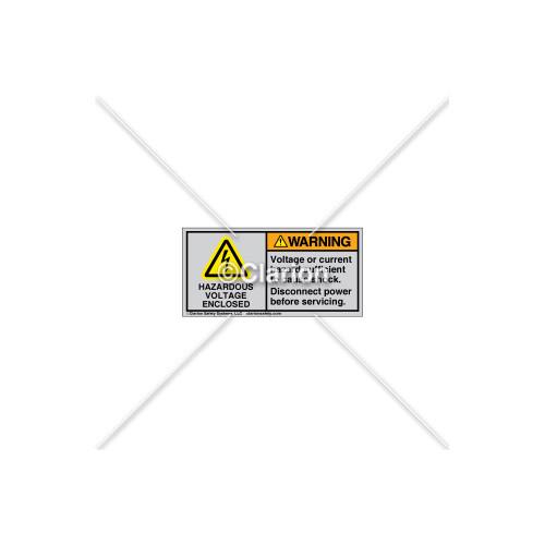 Warning/Hazardous Voltage Label (H6010-AXWHTL)